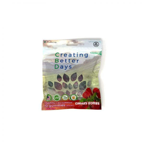 Ceating Better Days Cherry Bomb CBD Gummmies 150mg