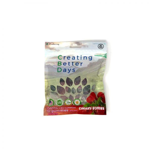 Ceating Better Days Cherry Bomb CBD Gummmies 150mg