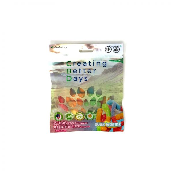 Creating-Better-Days-CBD-Sour-Worm-Gummies-150mg