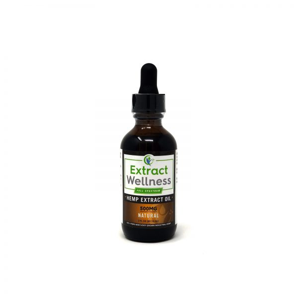 Extract-Wellness-Full-Spectrum-CBD-Oil- Natural 500mg