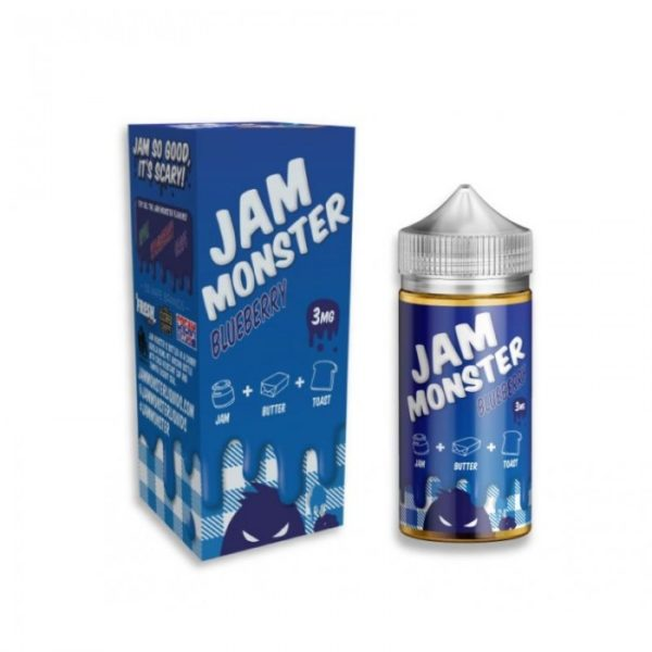 Saffire CBD jam_monster-Blueberry 3mg 100mL