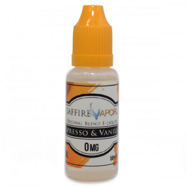 Saffire Vapor espresso and vanilla e-liquid